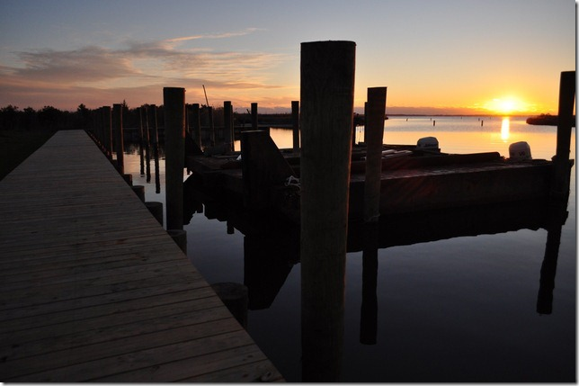 dock at surnrise Manteo, NC