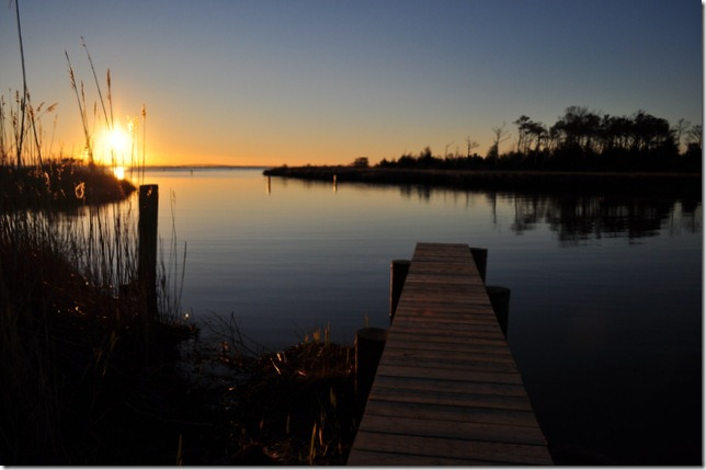 dock at sunrise  Manteo, NC