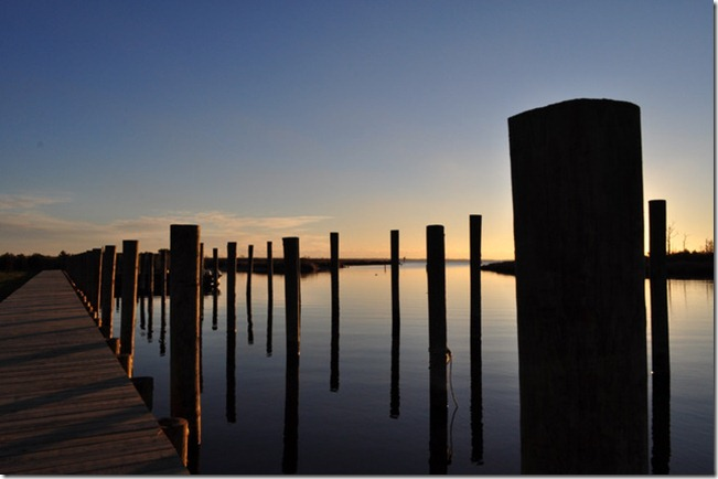 dock sunrise Manteo, NC