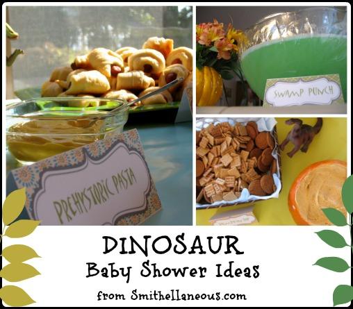 A Dinosaur Baby Shower Smithellaneous